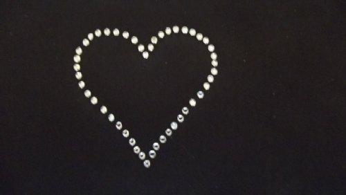 Rhinestone Heart Iron On T-Shirt Transfer