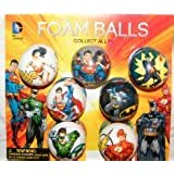 Batman, Superman, Justice League DC Superhero Figure Soft Foam Ball Toys Collection of 12