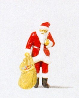 Santa Claus w/Sack of Goddies Christmas HO Preiser Models