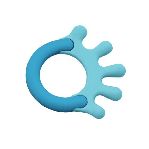 green sprouts Cornstarch Hand Teether, Aqua