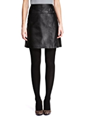 M&S Collection Leather Wrap Boxy Mini Skirt