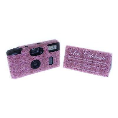 Pink Roses Design Disposable Camera