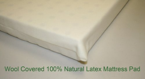 All Natural Latex, Wool Covered Pads For Mini, Porta-Crib, Co Sleepers And Playards In 6 Sizes