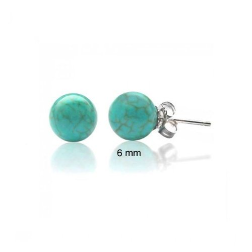 Bling Jewelry 925 Sterling Silver Turquoise Gemstone