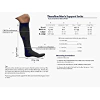 Men's 68301 Moderate Ribbed Dress Support Socks Size / Color: Medium / Brown