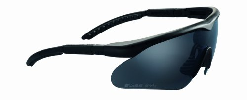 Swiss Eye Raptor Ballistic Sunglasses - Black, Coyote or Olive Green (Black)
