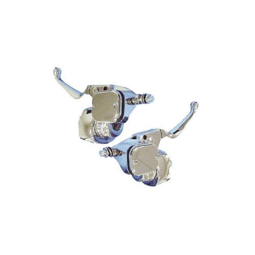 V-Factor Chrome Handlebar Control Kit W/ Switch Housings For Harley 07+ Sotail Dyna (44734)