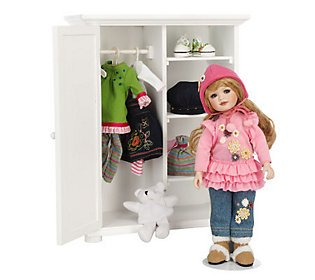 Little Lovey`s Closet L.e. Porcelain Doll with Wardrobe By Marie Osmond