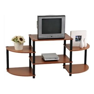 Momentum Furnishings Llc PBF 0290 303 Cherry Finish With Black Accents Entertainment Stand