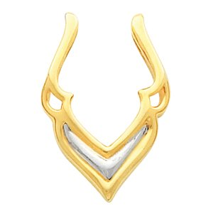 14k Two-Tone Pendant Enhancer - JewelryWeb