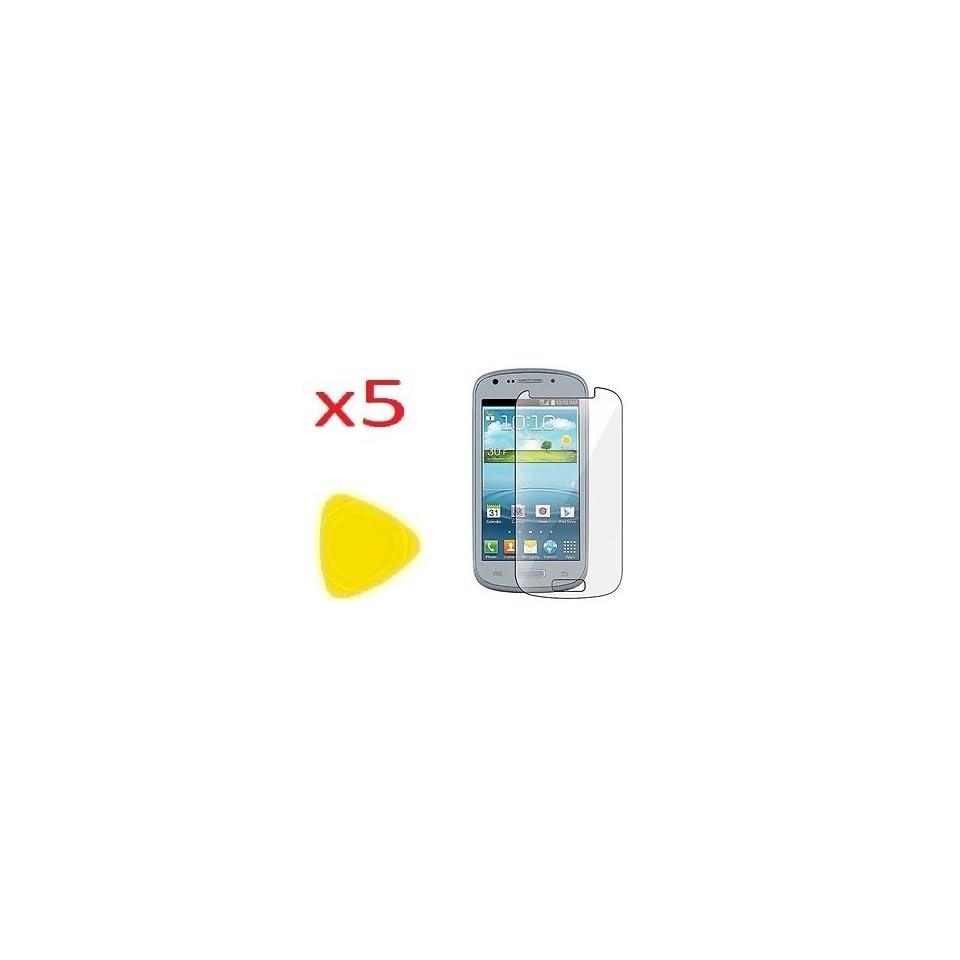 5x Samsung Galaxy Axiom SCH R830 / Galaxy Admire 2 SCH R830C Screen Protector CLEAR PRE CUT No Cutting Require Perfect Fit + Yellow Pry Tool