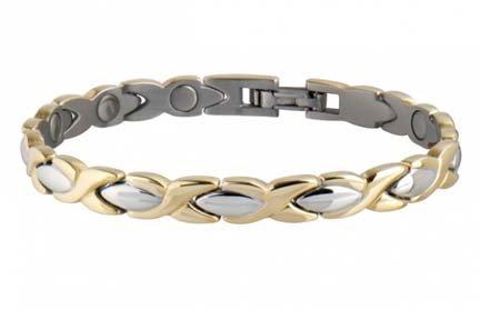 Sabona Lady Executive Dress Gold Duet Magnetic Bracelet - Small