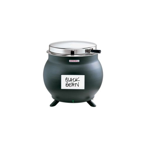 Server Products 84290 Black 7 Qt. Kettle Shaped Soup Warmer