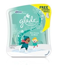 Glade Plugins Scented Oil Refill & Warmer Kit ~ Hot Cocoa & Mint ~ Limited Winter Edition 2014 (Quantity 1 Kit)