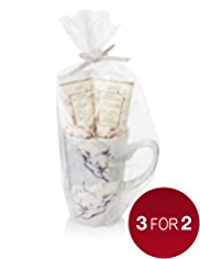 Floral Collection Magnolia Mug Gift Set