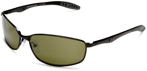 Gargoyles Men's Traction Black Metal Sunglasses