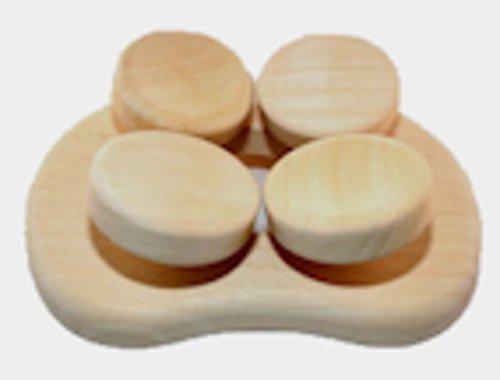 Abachi Holz - Sauna Kopfstütze