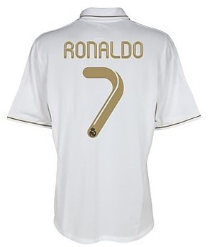 #7 Ronaldo Real Madrid Home Shirt Soccer Jersey 2011/12 (US Size M)