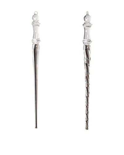 Sage & Co. Set of 2 Glass Icicle Ornaments