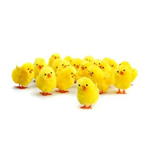 Plush easter chicks pack of 12 amazon co uk kitchen amp home