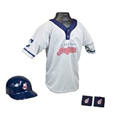 Cleveland Indians MLB Youth Helmet and Jersey Set by Franklin