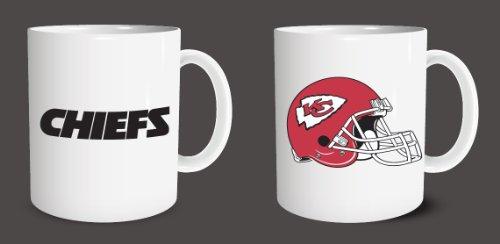 Ceramic Coffee Mug Cup 11Oz White Kansas City Chiefs Perfect Gift