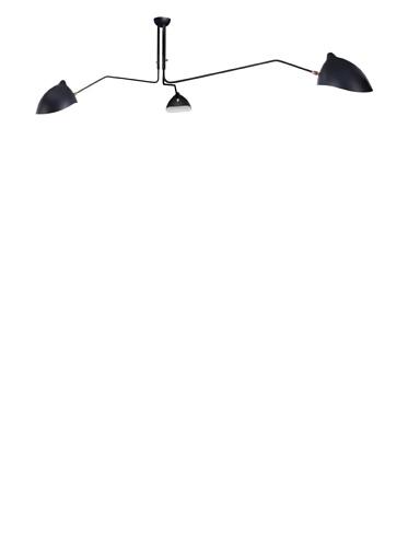 Kirch & Co. Holstebro Ceiling-Mount Light Fixture, Silver/Black