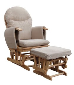 Glider Rocking Nursing Recliner Chair with footstool and brake system