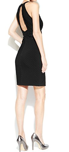 Calvin Klein Lace Trim Womens Stretch Bodycon Dress