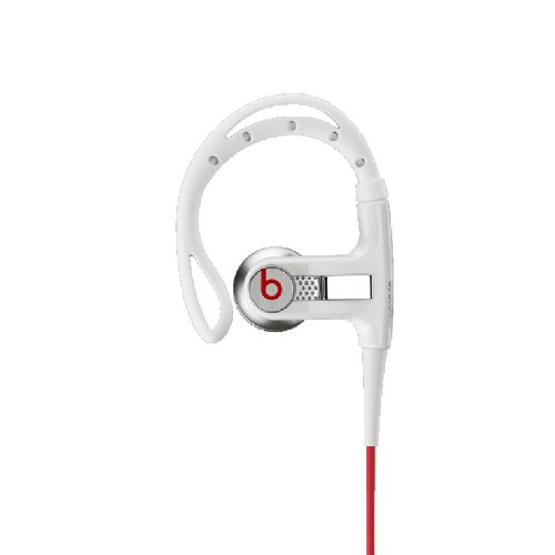 Beats By Dr. Dre Powerbeats Sweat-Resistant And Uv Protected, Subwoofer And Midrange Tweeter Per Ear Earphones (White)