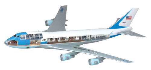 Dragon Models Air Force One 747 (VC-25A) Model Building Kit with Cutaway Views, Scale 1/144