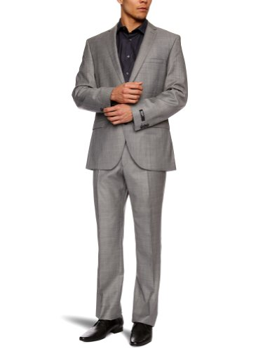 Gibson Marriott Silver Grey Single Breasted Men's Two-Piece Suit