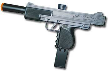 Airsoft Pistol Uzi Style Sping Loaded Cock and Shoot Single Shot Airsoft Gun