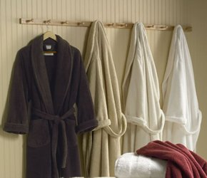 Catalina White Egyptian Cotton Terry Luxury Bathrobe