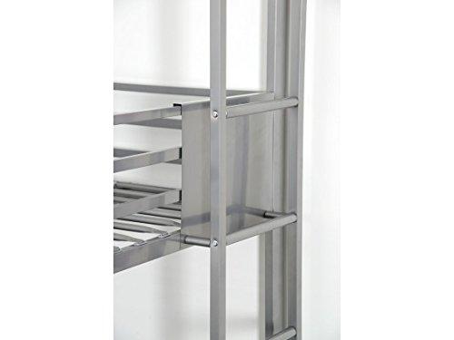 Triplex - Lits Superposés 90x190 Argent