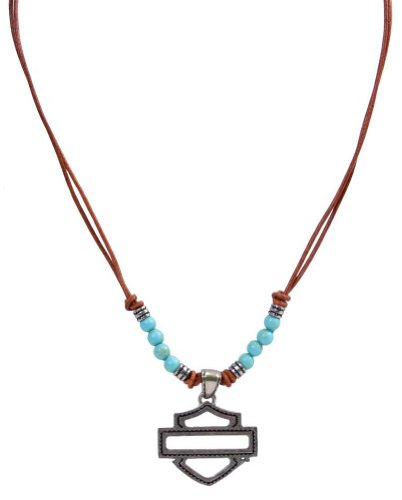 Harley-Davidson Women's Sweet Zone Bar & Shield Beaded Necklace HDWNK10523