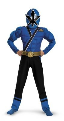Blue Ranger Samurai Classic Muscle Costume - Medium