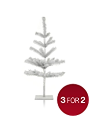 Silver Tinsel Table Top Christmas Tree