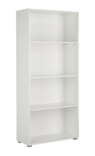 Libreria quattro vani modulare colonna ufficio studio bianco LB2833 L70h158p30