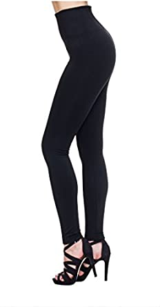 MHOC Womens Fleece Lined Leggings High Waisted Thick Spandex Opaque Tights