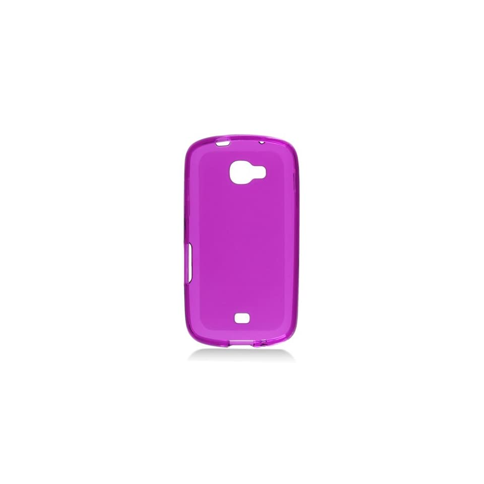 Purple Clear Frosted Flex Cover Case for Samsung Galaxy Axiom SCH R830 Cell Phones & Accessories