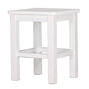 2er set hocker sitzhocker krasi kiefer massiv holz wei lackiert k che haushalt. Black Bedroom Furniture Sets. Home Design Ideas