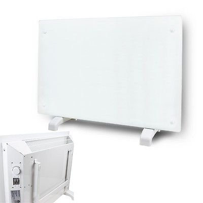 1500 Watt White Glass Panel Heater Silent Energy Saving Wall Mount Heat ETL 110V (240v 4000w Smart Wall Heater compare prices)