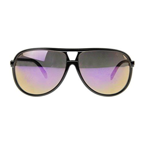 BXT® Unisex Pilotenbrille Sonnenbrille 70er Jahre Herren & Damen Sunglasses Fliegerbrille verspiegelt Sonnenbrille UV400 100% Schutz