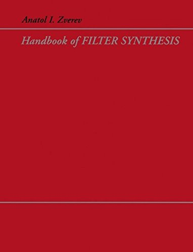 Handbook of Filter Synthesis, by Anatol I. Zverev