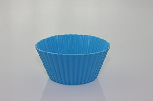 12 Pack Silicone Non-Stick Baking Cups / Reusable Cupcake Liners / Bpa Free Food Grade