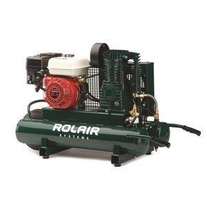 Discover Bargain Rol-Air Air Compressor GX200 Honda 9 GAL #6590HK18