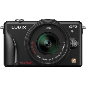 Panasonic Lumix DMC-GF2 12 MP Micro Four-Thirds Interchangeable Lens Digital Camera with 3.0-Inch Touch-Screen LCD and 14mm f/2.5 G Aspherical Lens (Black)