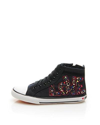 LOVE MOSCHINO Sneaker Alta D.Lav.05/20 [Nero/Multicolore]