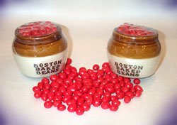 Boston Baked Beans Candy in Crock